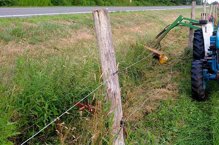 DURING: Arcadia Mowing provides professional ditch mowing services