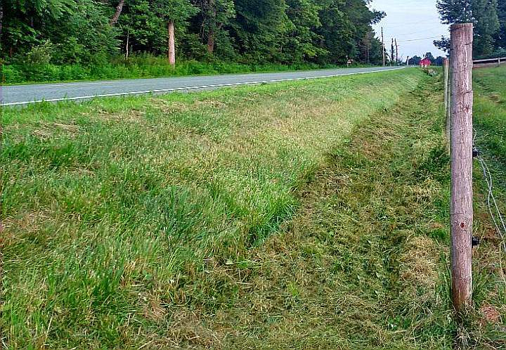 AFTER: Arcadia Mowing provides professional ditch mowing services